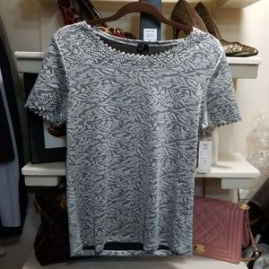 Woman's top grey silver. Size small